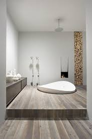 bathrooms with wood floors. Hardwood Floors In The Bathroom Look Very Chic And Gives Impression Of Comfortable Warm. Wood Can Be Combined With A Variety Colors Bathrooms 4
