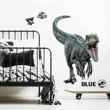 jurassic world fallen kingdom blue velociraptor giant wall decal