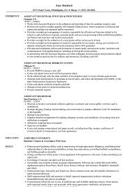 Assistant Registrar Resume Samples Velvet Jobs