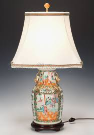 porcelain lighting. pair of antique chinese export porcelain rose medallion lamps lighting