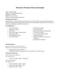 Television Production Engineer Resume Television Producer Resume Sample Httpresumesdesign 15