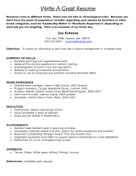 Making A Good Resume Resume Templates