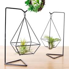 plant holder stand air plant holder metal stand desktop planter for hanging with stand plant stands plant holder