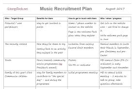 Recruiting Plan Template Liturgytools Net Church Music Team Member Recruitment