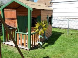 picture of build a log cabin playhouse for under 300
