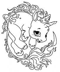 Unicorn with a shooting star. Baby Unicorn Coloring Pages Coloring Rocks