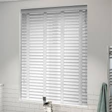 white wooden vertical blinds. Beautiful Wooden Arctic White U0026 Faux Wood Blind  50mm Slat Intended Wooden Vertical Blinds E