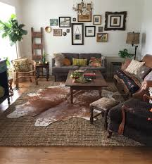 livingroom cowhide rug living room magnificent black and white