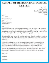 Formal Letter Of Resignation Inspiration Formal Resignation Letter Template Shiena Pinterest