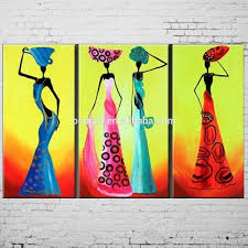 dafen handmade abstract african women painting mural picture on canvas oil paintings
