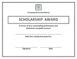Scholarship Certificate Template For Word Memorial Scholarship Certificate Template Girl Scout Flyer