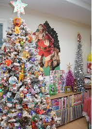 fun and festive flocked tree