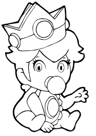 Small Picture Baby Princess Peach coloring page Free Printable Coloring Pages