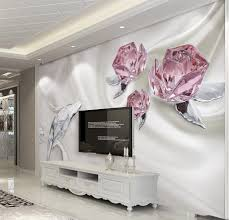 Custom 3d Foto Behang Mode Crystal Rose 3d Muurschilderingen Behang