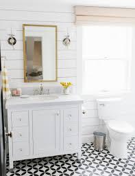 Patterned Floor Tiles Bathroom Lynwood Remodel Guest Bathroom Studio Mcgee