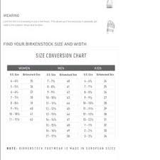 Birkenstock Size Conversion Chart Arizona Eva Birkenstocks