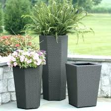 planters home depot rectangle plastic