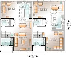Contemporary Semi-Detached Multi-Family House Plan - 22329DR floor plan -  Main Level