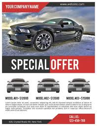 Car Sale Flyer Psd Template Commercial Flyer Template Corporate Flyer Instant Download