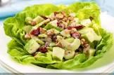 apple cranberry salad with creamy lemon vinaigrette