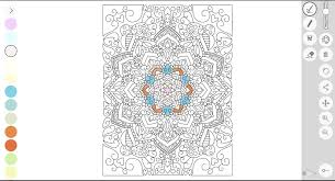 a screenshot of the zen coloring book on the macbook air with a coloring page of