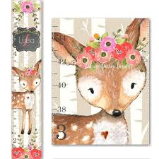 Woodland Growth Chart Buy Deer Family Wooden Growth Chart Woodland Animal