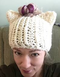 Cat Hat Crochet Pattern Delectable Ravelry Messy Bun Cat Hat Pattern By Rebecca Renea