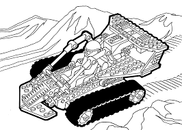 Lego Technic Coloring Page For Girls