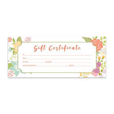 Gift Certificate Template Printable Floral Gift Certificate Download Flowers Premade Gift