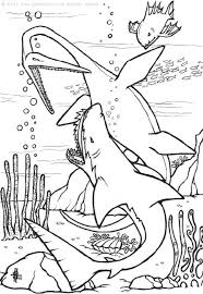 Small Picture Dinosaur with prehistoric shark coloring pages Hellokidscom