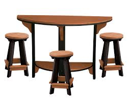 half round pub table designs with semi circle bar and furniture collection 5236 d on tables 1200x944px
