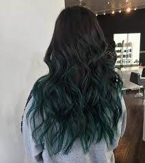 Blue Ombre With Dark Brown Hair