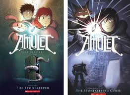 amulet book one the stonekeeper and book two the stonekeeper s curse by kazu