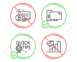 Do Or Stop Quick Tips Computer And Bitcoin System Icons Simple