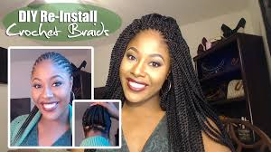 Braid Pattern For Crochet Senegalese Twist Fascinating How To DIY CROCHET BRAIDS REINSTALL Braid Pattern Explained UNDER