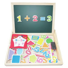 highest quality anna russe diy multifunctional educational toys digital numbers wooden magnetic jigsaw puzzle kids toys