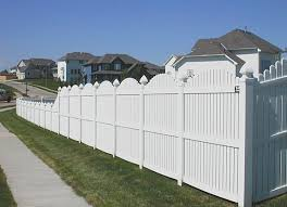 vinyl fence designs. Plain Fence Vinyl Fence Designs  Vinyl Fencing Scallop Over With Drop To Fence Designs