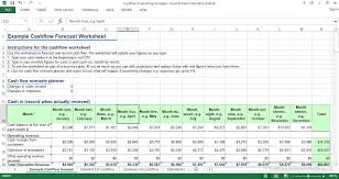 Cash Flow Forecasting Template Excel Engineering Management