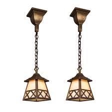 Arts And Crafts Pendant Lighting Charming Antique Lantern Lights
