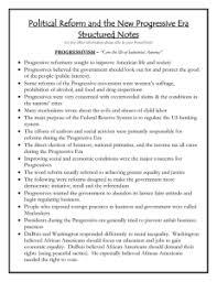Progressive Legislation Chart Answers The Progressive Era