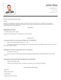 Modelo De Curriculum Vitae En Word Descargar Modelos De Curriculum Vitae Basico Modelo De Curriculum