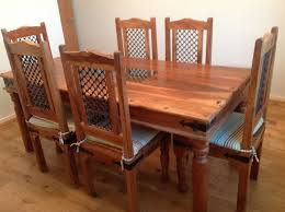 NEW PRICE Jail sheesham wood dining room table & 6 chairs