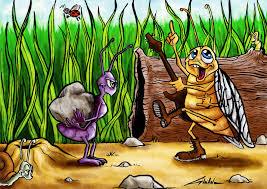 Illustration De La Cigale Et La Fourmi