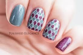 Nail art tutorial - Full nail stamping decal - YouTube