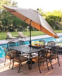 Patio furniture dining sets with umbrella Umbrella Metamorf Montclair Outdoor Patio Furniture Dining Sets Pieces Real Simple Furniture Montclair Outdoor Patio Furniture Dining Sets Pieces