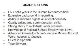 Resume Qualifications Examples Jmckell Com