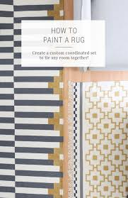 how to paint a rug to make a coordinated set ikea s