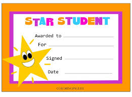Star Student Certificates Star Student Certificate Star Students Student