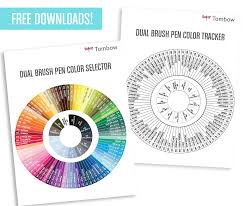 Free Downloads New Tombow Dual Brush Pen Color Tools