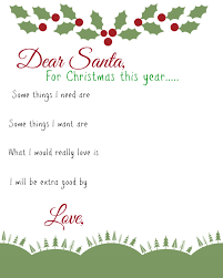 Christmas Wish List Printable Dear Santa Kids Wish List Printable Busy Moms Helper 23